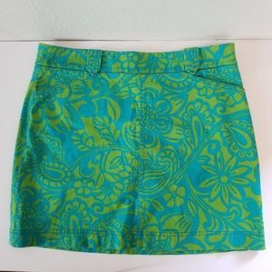 Lilly Pulitzer Agnes Skirt Twill Paisley Size 10